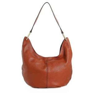 Vince Camuto Shae Leather Hobo Pinecone Bag Purse